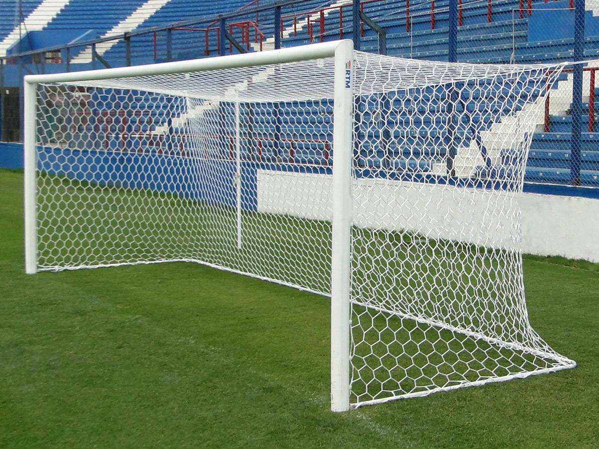 Red Futbol 11 Tipo Cajón Malla Hexagonal Blanca Proamar