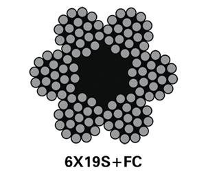 CABLE ACERO GALVANIZADO 6X19S+FC