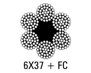 CABLE ACERO GALVANIZADO 6X37 + FC